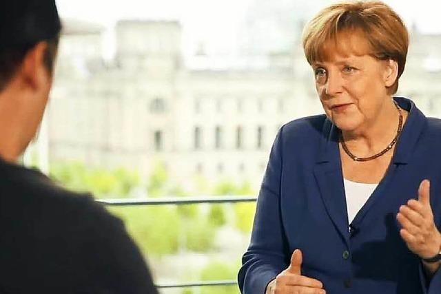 Der Youtuber LeFloid hat Angela Merkel interviewt