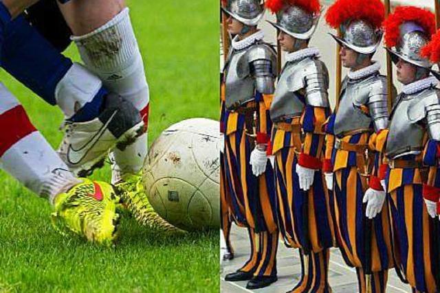 Der FC Rimsingen kickt gegen Fußballer der päpstlichen Leibgarde