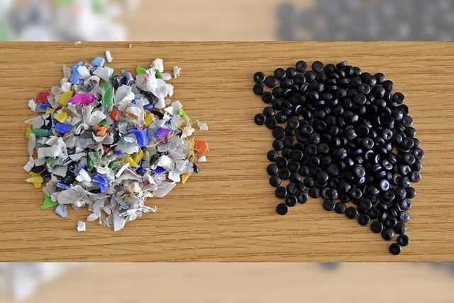 Plastikeimer zu neuem Kunststoff
