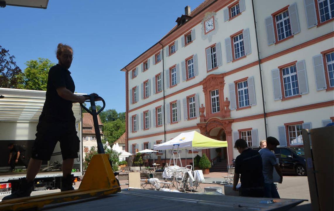 Der erste Aufbautag für Händler bei de...a in Schloss Beuggen war am Mittwoch.   | Foto: Peter Gerigk