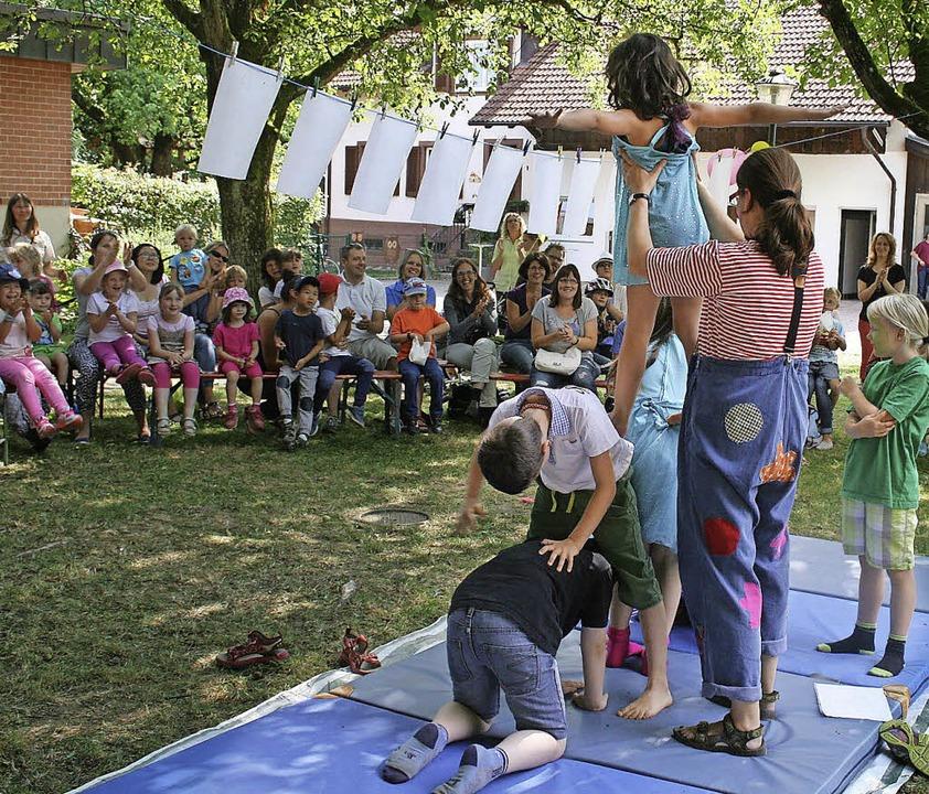 Spielefest von Dorfstübli und AWO: Mit...isterten die AWO-Kids. Foto: Ines Bode  | Foto: Ines Bode