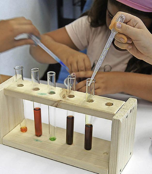 Hier wird schon wie im echten Labor geforscht.  | Foto: zvg