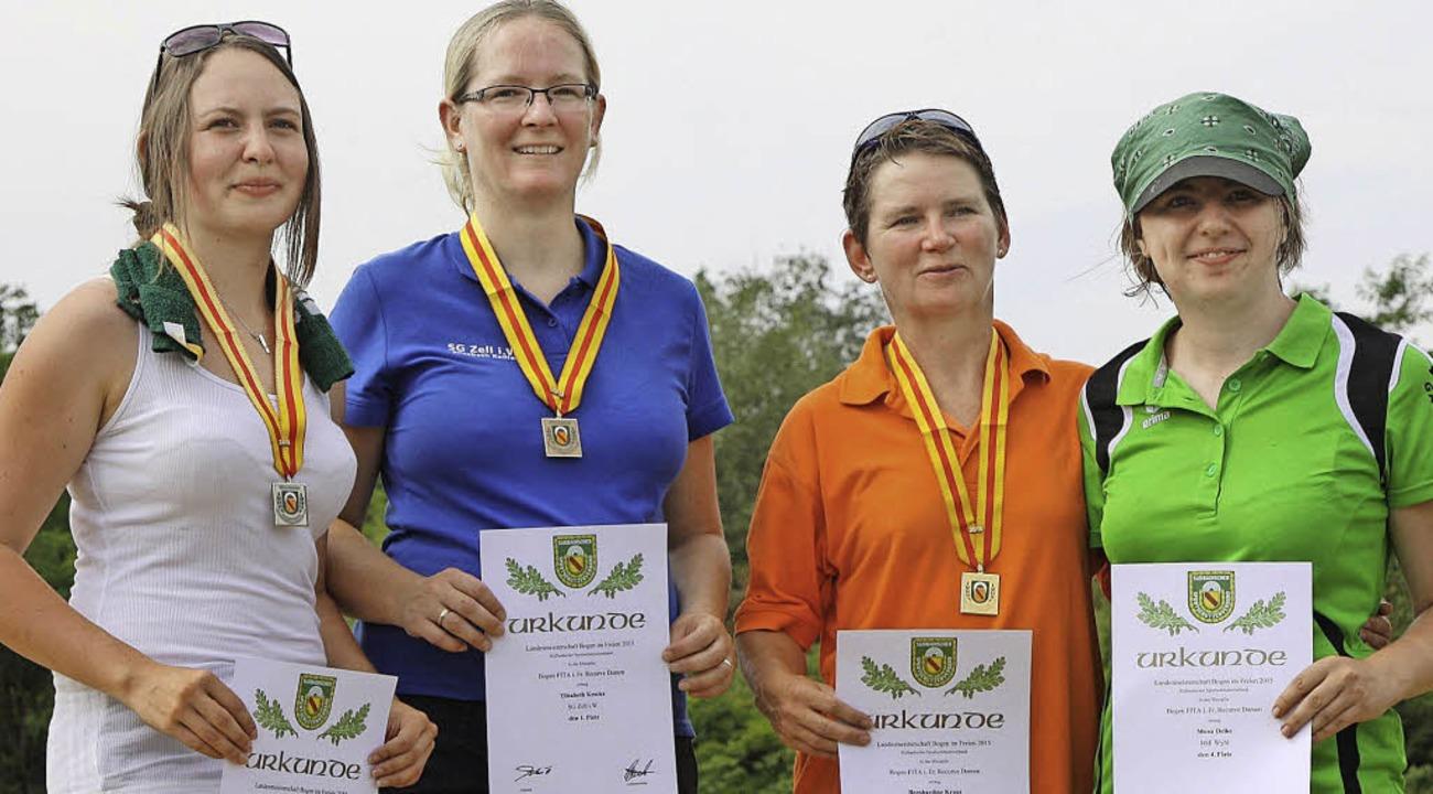 Landesmeisterin in der Damenklasse wurde Elisabeth Keßler (2. von links).  | Foto: zvg
