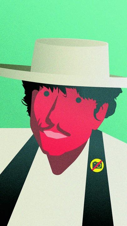Keine Fotos, keine Videos: Dylan kann Akustik. Optik eher weniger.  | Foto: Nils Oettlin (Original: Sony Music)