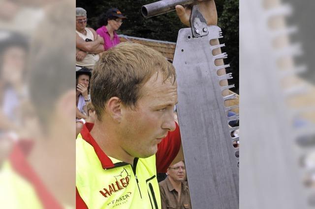 Sportholzfäller suchen Meister