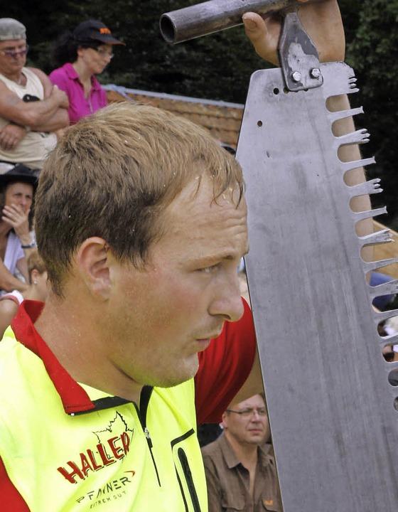 Markus Vögele ist der Titelverteidiger.     Foto: heidi fössel