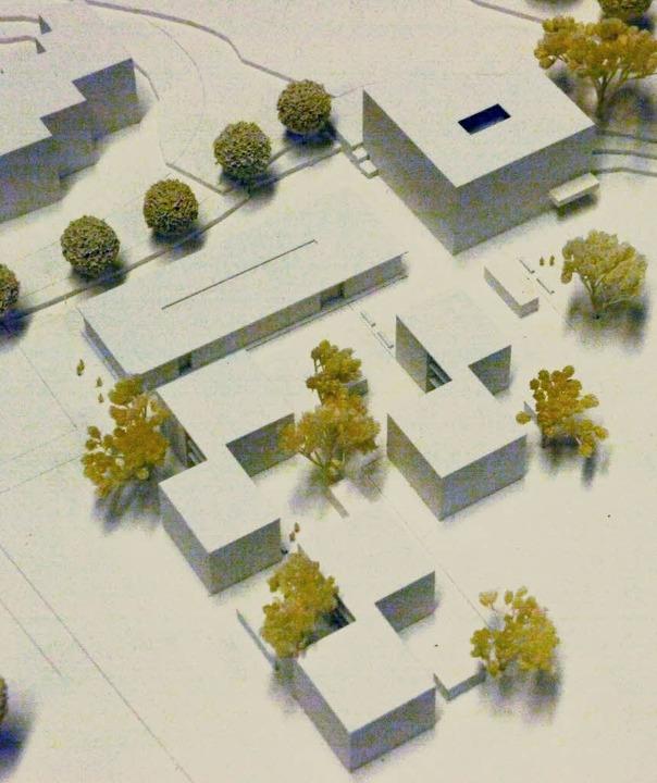 Im Modell wird die aufgegliederte Beba... Rand des Stadtteils Haagen deutlich.     Foto: Modell und Zeichnung: Arbeitsgemeinschaft Herzog/K9 Architekten