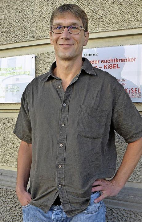 Berät Drogensüchtige aus Rheinfelden in Lörrach: Frank Meißner vom AKRM  | Foto: Peter Gerigk