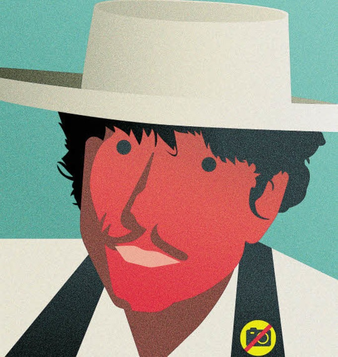 Leider gibt es keine Bilder von Bob Dy...gement hat das Fotografieren verboten.  | Foto: Illustration: Nils Oettlin (Sony Music)