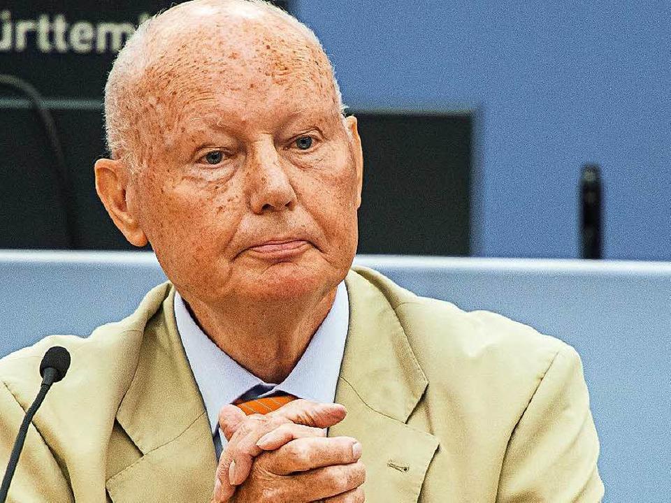 Helmut Rannacher hat die Polizeiführun... – mit zwei Jahren Verzögerung.   | Foto: dpa
