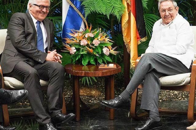 Steinmeier trifft bei historischem Besuch Kubas Präsidenten Castro