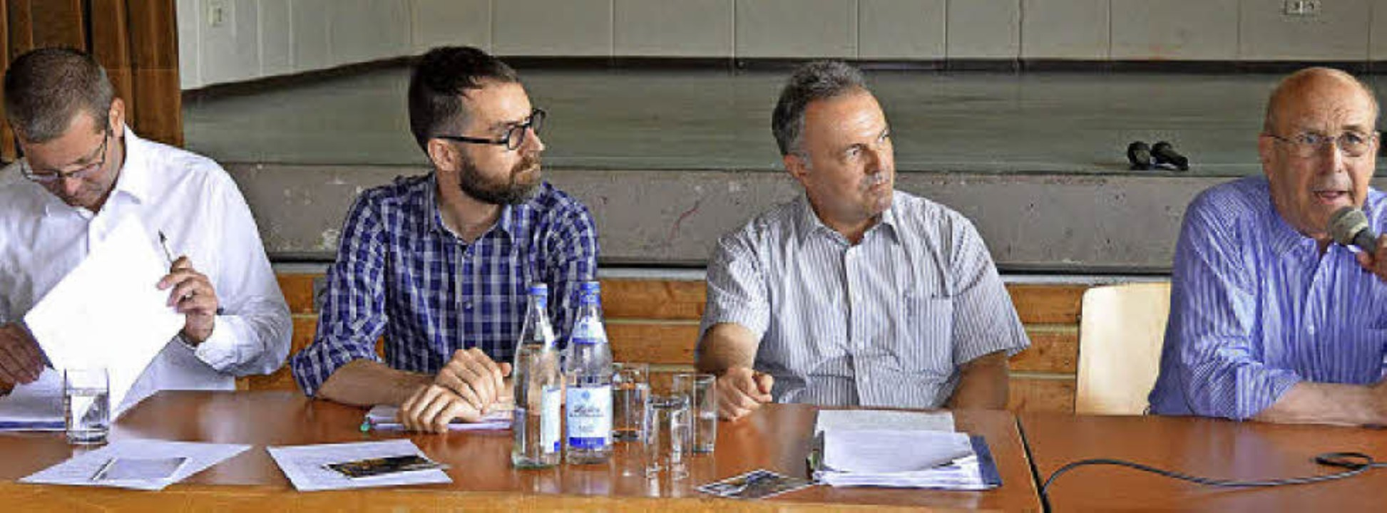 Sie standen bei der Kandertalkonferenz...as Kossak (Verkehrsexperte/von links).  | Foto: Markus Maier