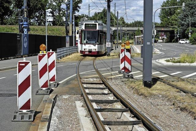 Gleise der Zähringer Tramstrecke sind schon wieder verschlissen