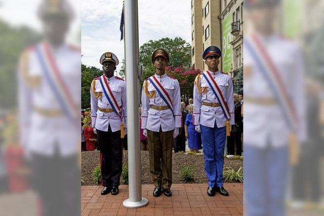 USA und Kuba eröffnen offiziell Botschaften