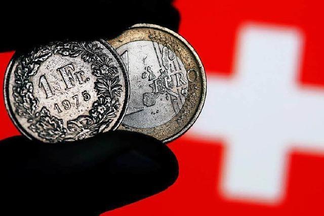 Starker Franken belastet Schweizer Außenhandel