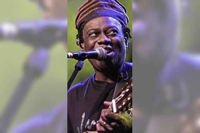 Sänger Wally Warning beim African Music Festival