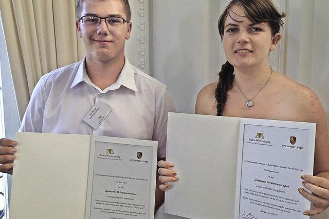 Hohe Auszeichnung für zwei Schüler