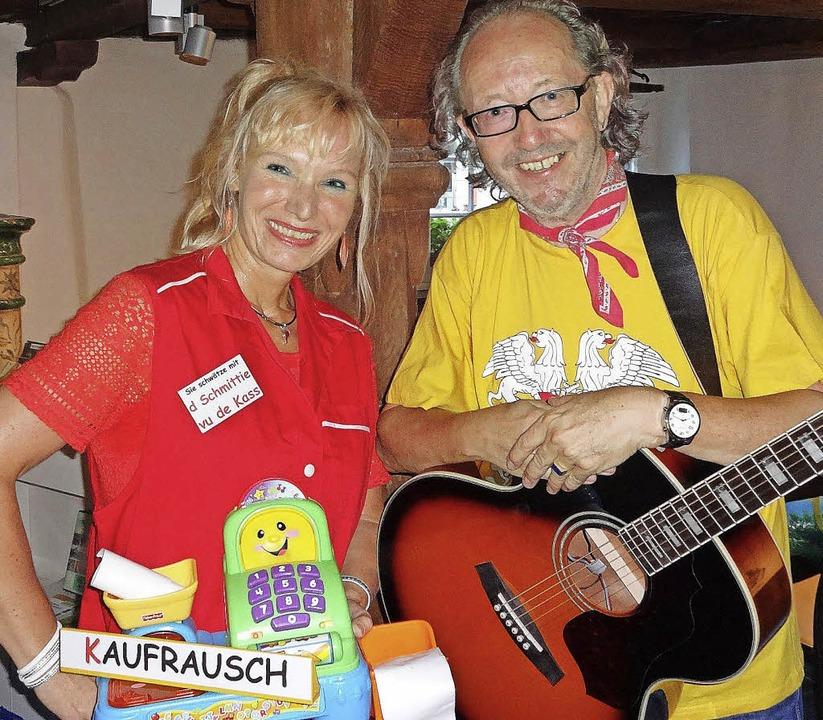 Spaßmacher im Hebelhaus in Hausen: Christiane und Jürgen Hack aus Freiburg  | Foto: klaus brust