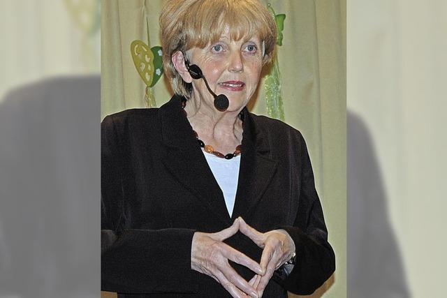Merkel-Double tritt auf