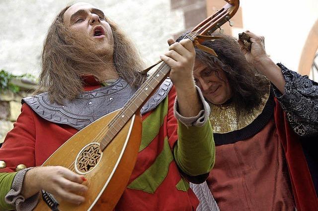 Ritter, Gaukler, Feuerspucker beim Schlossfest