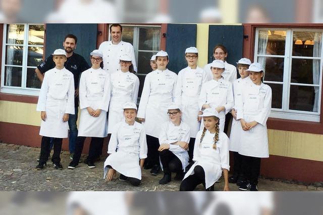 Europa-Miniköche beendent zweijährigen Gastro-Schnupperkurs
