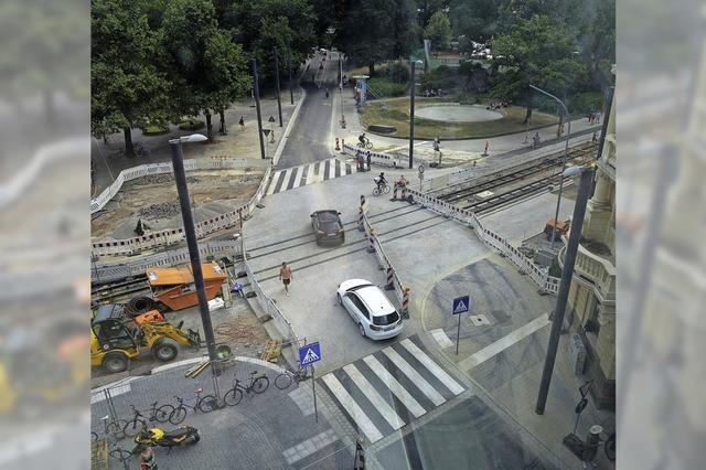 Die Kreuzung Werhtmann-, Rempart- und Belfortstraße ist fertig