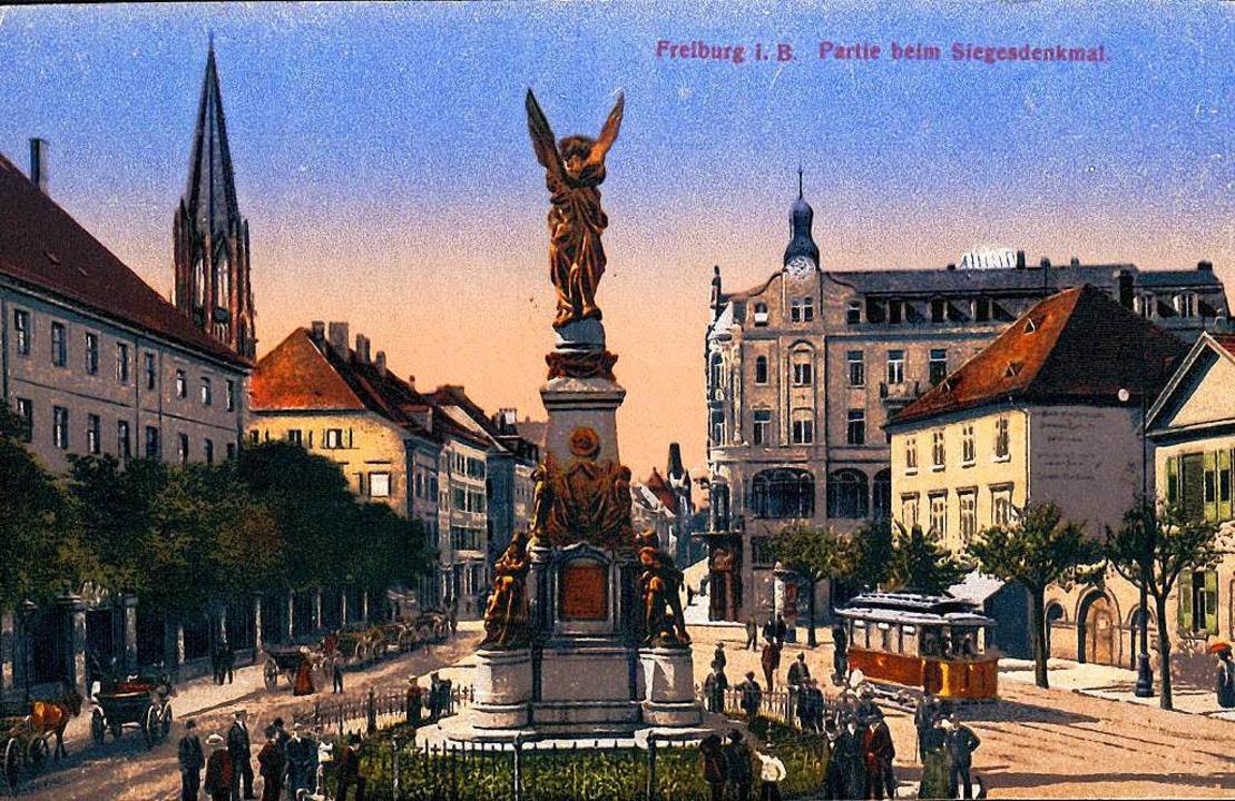Das Siegesdenkmal an seinem Original-Standort.  | Foto: Hans Sigmund