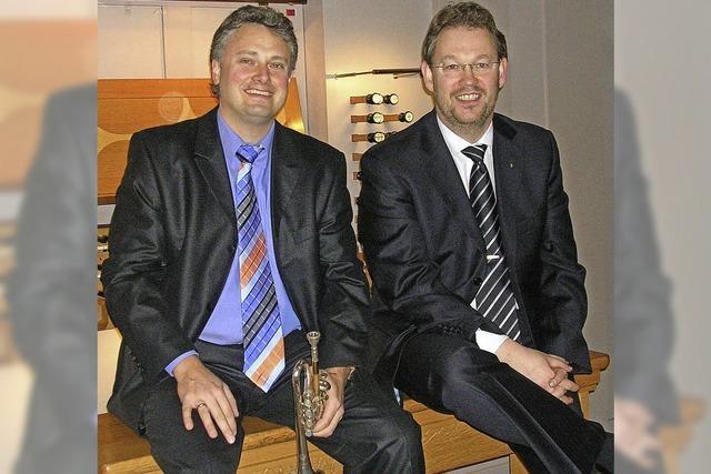 Rudolf Mahni (Trompete) und Carsten Klomp (Orgel) beenden die diesjährige Schopfheimer Konzertreihe