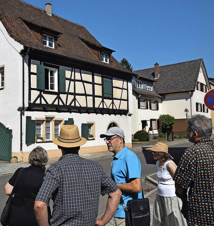 Auf seiner Tour durch die Unterstadt z...on zwei Fruchtkästen in Müllheim war.   | Foto: Beatrice Ehrlich