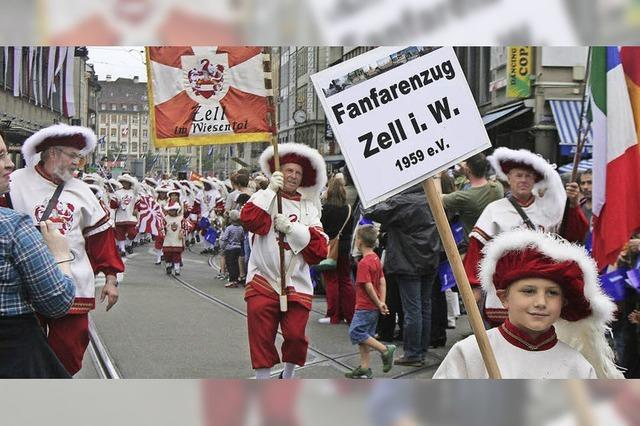 Fanfarenzug wieder bei der Basler Tattoo-Parade
