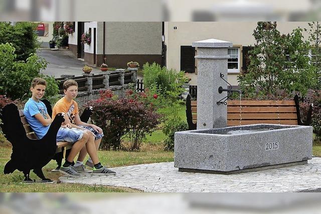 Neuer Dorfbrunnen für Marzell steht