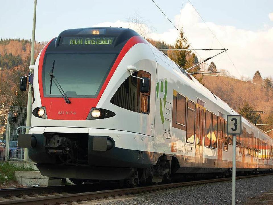 Die SBB-Züge aus dem Wiesental sorgten...nchen Reisenden für ein Aha-Erlebnis.   | Foto: berger