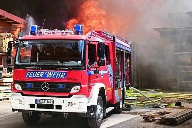 Großbrand im Sägewerk Ketterer in Titisee-Neustadt