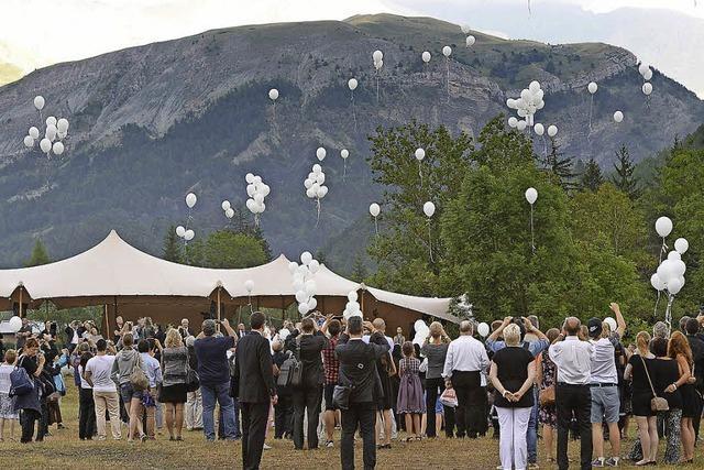 Luftballons zum Abschied