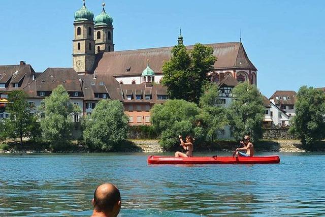 Das Baden im Rhein ist erlaubt – aber mit Vorsicht zu genießen
