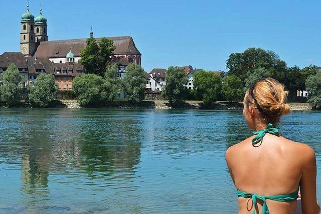 Baden im Rhein: Nur für gute Schwimmer geeignet