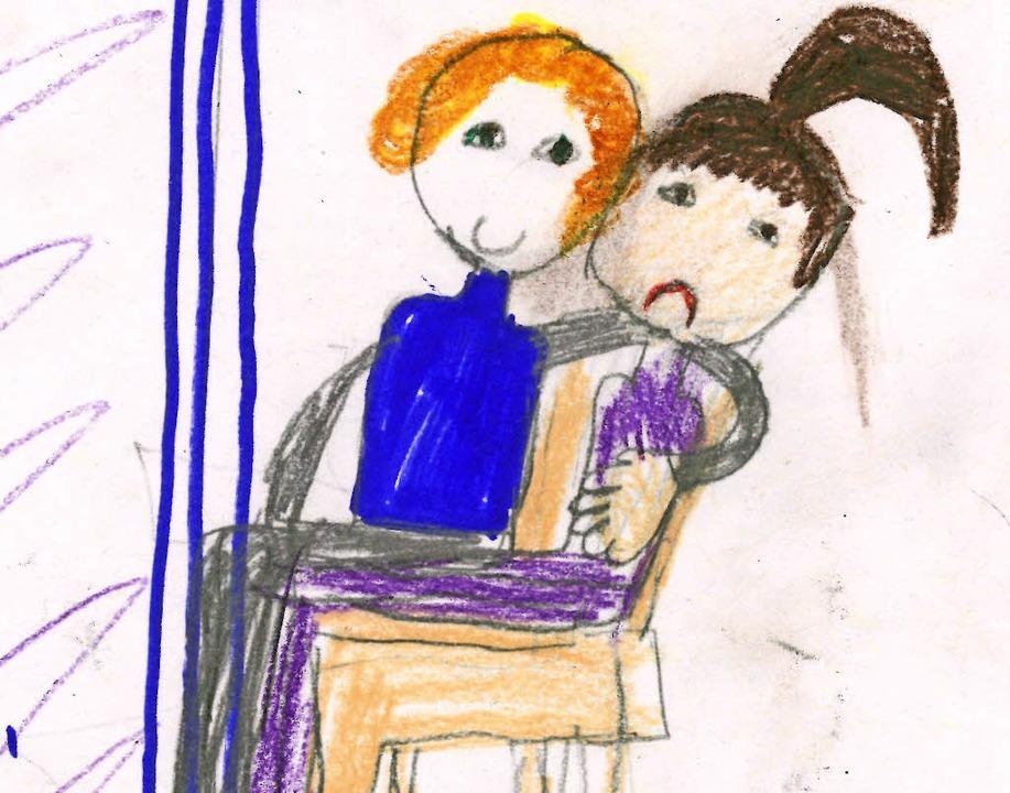 Ein Nein-Gefühl: Die Viertklässlerin  ...chnet eine unangenehme Umarmung im Bus  | Foto: bz