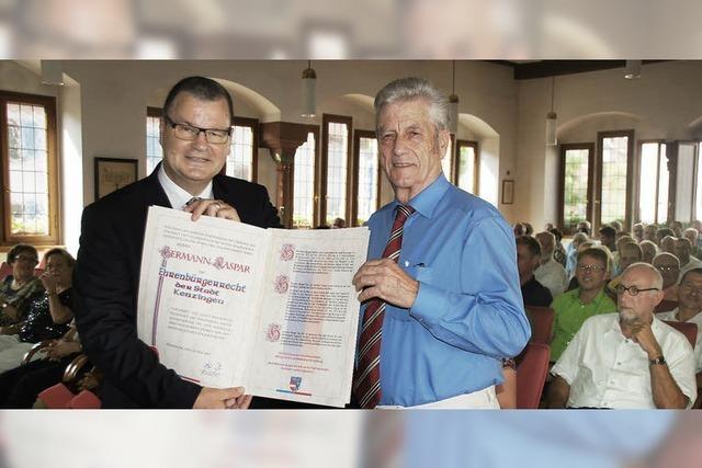 Hermann Kaspar zum Ehrenbürger der Stadt Kenzingen ernannt