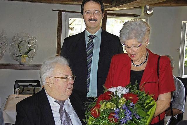 Gratulanten im Hebelhaus