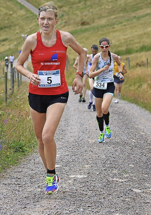 Harte Tour: Katrin Köngeter (links) wurde Zweite.    | Foto: hermann Murst