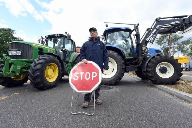 Elsässer Bauern blockieren Grenzübergänge in Südbaden