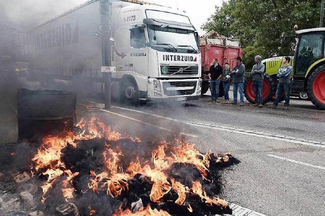 Blockade Elsässischer Bauern: Keiner kann der Kontrolle entkommen