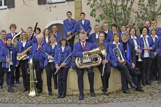 Der Musikverein Hügelheim gibt ein Open-Air-Konzert