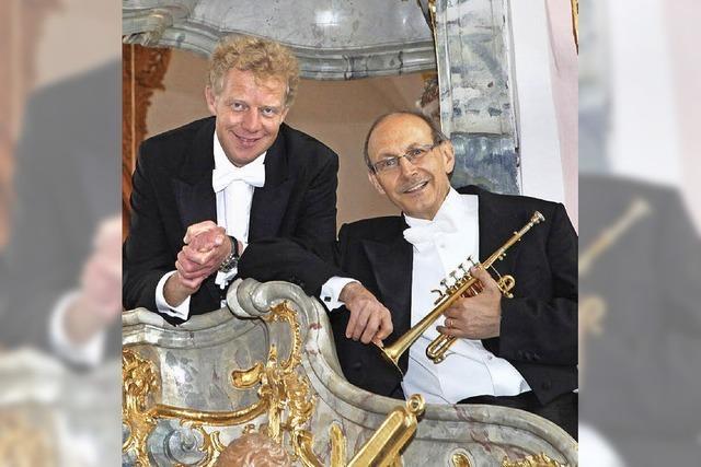 Bernhard Kratzer und Paul Theis in der Wallfahrtskirche Todtmoos