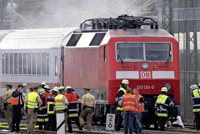 Brand in IC legt Zugverkehr lahm