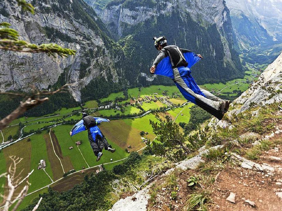 Klettersteig Lauterbrunnen : Base jumper rettet iphone u2013 und sucht besitzerin per video