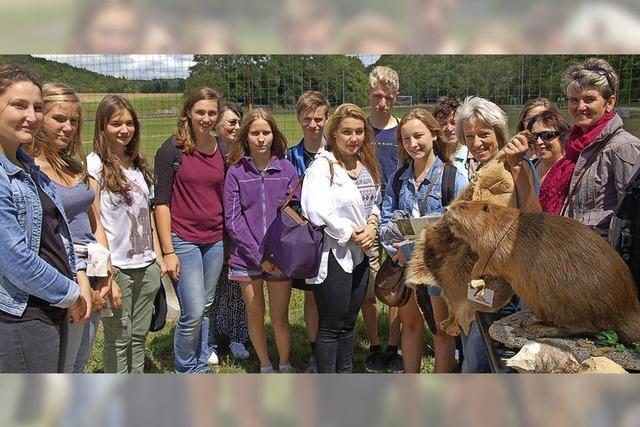 Schüler erkunden die Tierwelt