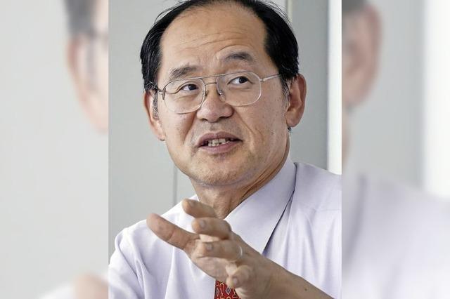 Der japanische Generalkonsul Hidenao Yanagi zu Gast in der BZ-Redaktion