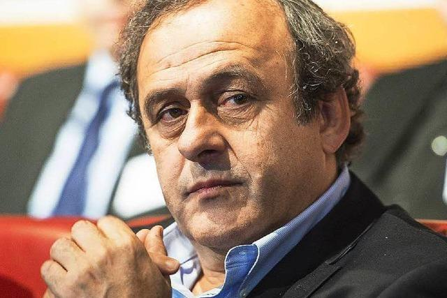 Michel Platini will Joseph Blatter als Fifa-Präsident nachfolgen