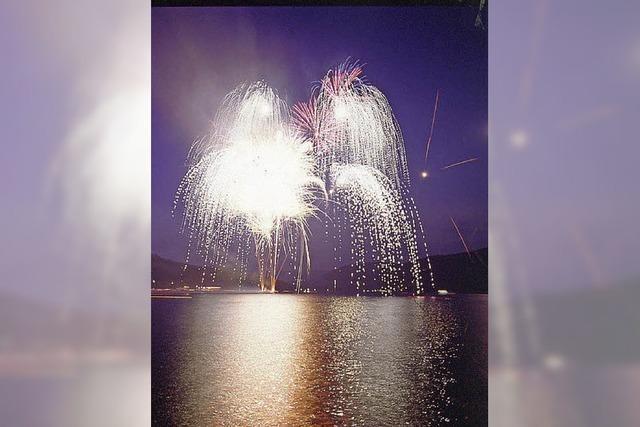 Seenachtsfest am Schluchsee mit Feuerwerk